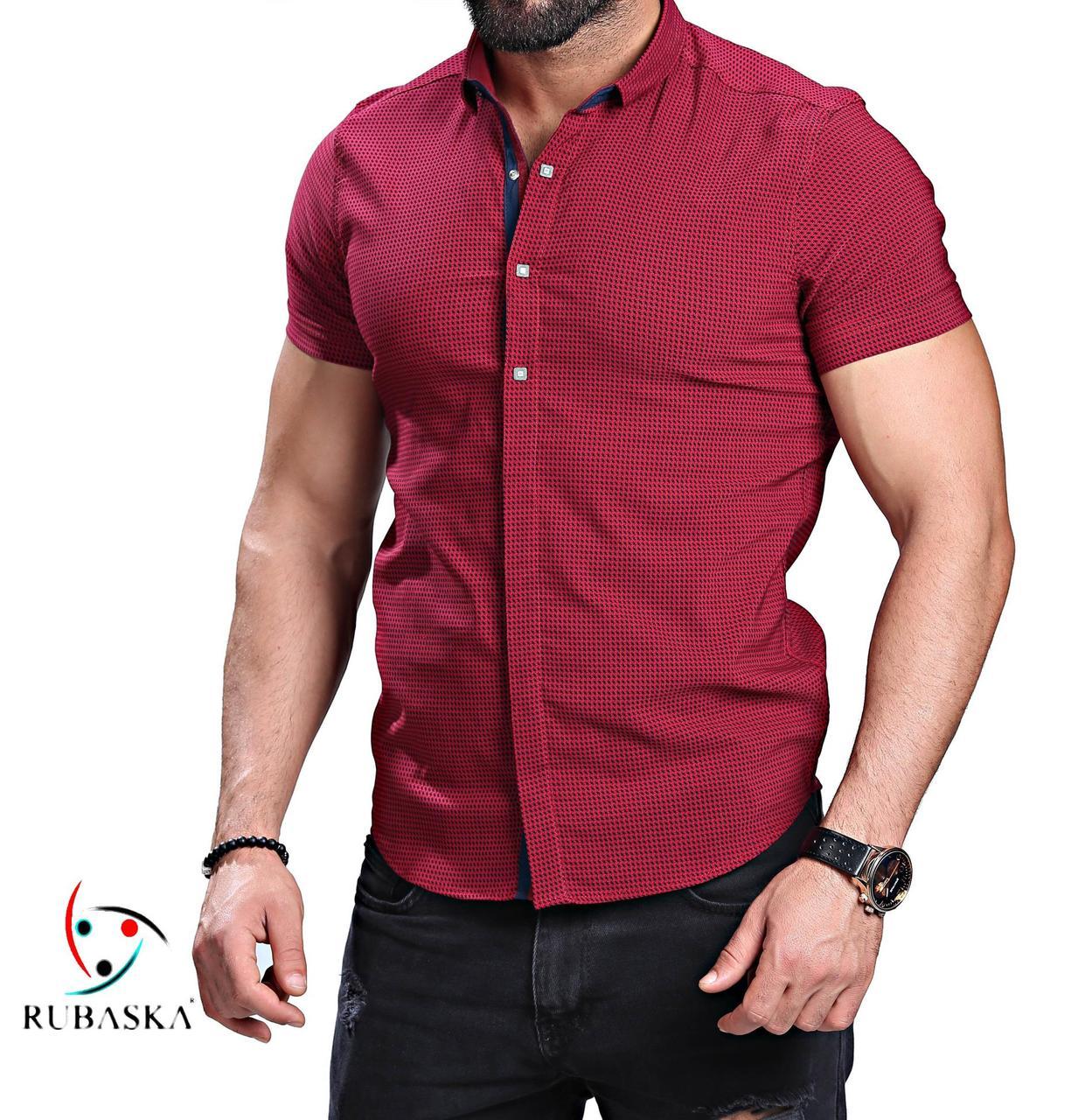 36367aaa16f Рубашка мужская летняя бордовая