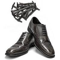 Силиконовые шнурки для кожаной обуви