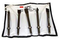 Комплект длинных зубил для пневматического молотка (JAH-6833), 5 пр. круглые JAZ-3945 (Jonnesway, Тайвань)