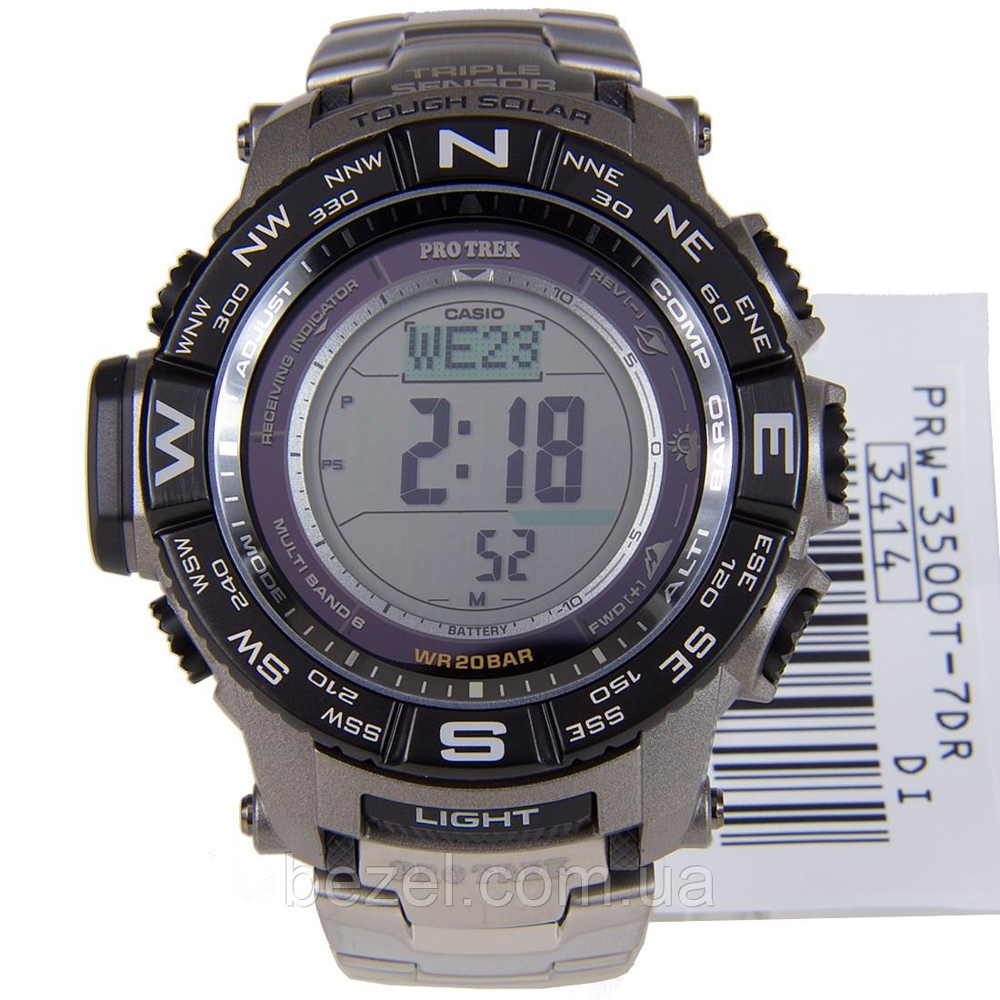 Мужские часы Casio PROTREK PRW-3500T-7E Касио противоударные японские кварцевые