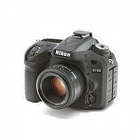 Защитный силиконовый чехол для фотоаппаратов Nikon D7100, D7200  - черный