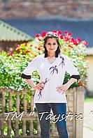 Вышиванка белая блузка вышитая в Бохо-стиле, этно, бохо
