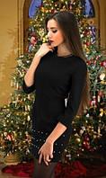 Стеганное платье черное