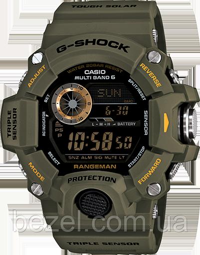 Мужские часы Casio G-Shock GW-9400-3DR Касио противоударные японские кварцевые