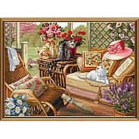 Набор для вышивания нитками и бисером Летняя веранда