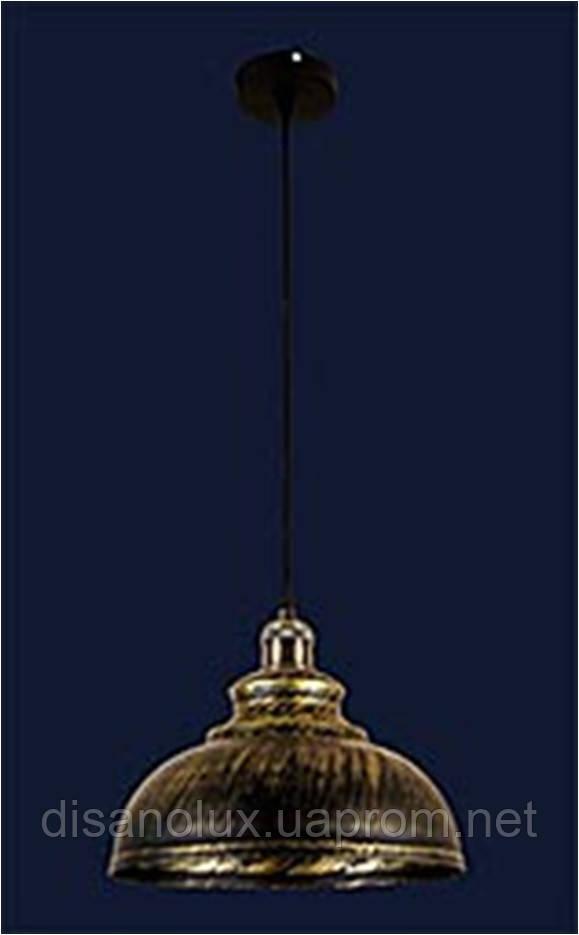 Cветильник подвесной 7526858-1 BK +GD Е27 300*230мм
