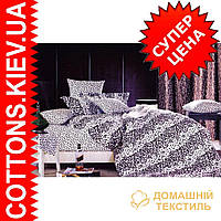 Комплект двуспального евро сатинового постельного белья Барс