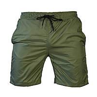 Пляжные мужские зеленые шорты