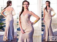 Женское вечернее платье из гипюра
