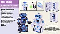 Робот HG-702B р/у,22см,аккум,реагир.на руку,ездит,муз,зв,свет,USBзар