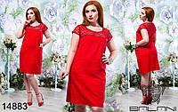Летнее платье из льна  большого размера 48-56