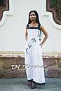 Вышитое платье бохо вышиванка лен, этно, бохо-стиль, вишите плаття вишиванка, Bohemian, фото 3