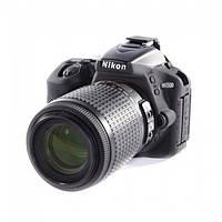 Защитный силиконовый чехол для фотоаппаратов Nikon D5500  - черный