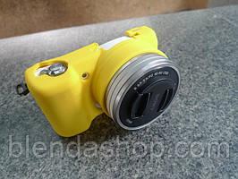 Защитный силиконовый чехол для фотоаппаратов SONY A5000, A5100 - желтый