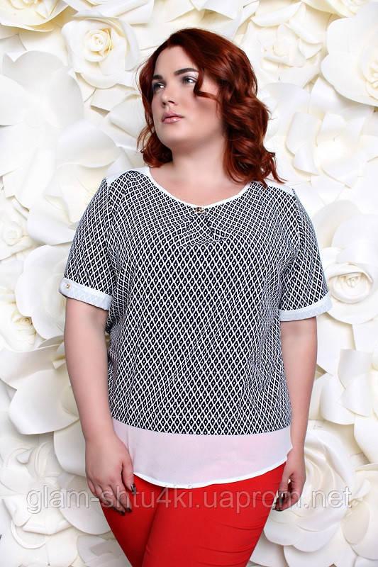 10fb783cb0d Женская блузка больших размеров (50
