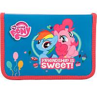 Пенал школьный Kite Little Pony,1 отделение, 2 отворота, без наполнения, LP17-622-2