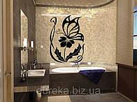 Виниловые наклейки в ванную Бабочки