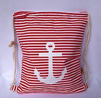 Пляжный рюкзак, пляжная текстильная летняя сумка рюкзак цвет красный