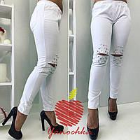 Женские штаны с бусинами / джинс / Украина, фото 1