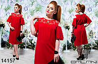 Летнее платье свободного кроя в большом размере 50-56