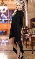 Черное платье со шлейфом