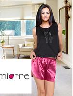 Женская атласная пижама с шортами, Miorre