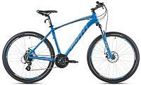 """Велосипед 27,5"""" SX-3700 (650B) 2017 рама 19"""" сірий/блакитний/матовий (SP000101) SPELLI"""