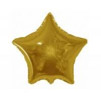 Шар наполненный гелием фольгированный Звезда Золото