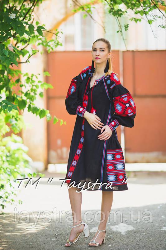 Вышитое платье бохо вышиванка лен a8a3e7c8fec37