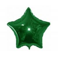 Шар наполненный гелием фольгированный  Звезда Зелёный