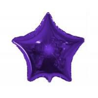 Шар наполненный гелием фольга Звезда Фиолетовый