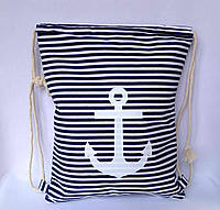 Пляжный рюкзак, пляжная текстильная летняя сумка цвет синий