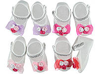 Пинетки-туфельки для новорожденных 0-6 мес