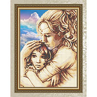 Схема для вышивки бисером Мама и дочь