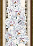 Схема для вышивки бисером Орхидея на бежевом