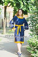Стильное платье  бохо вышиванка лен, этно, бохо шик, вишите плаття, на свадьбу, выпускное платье