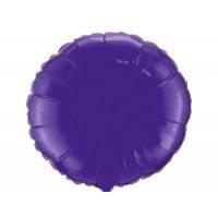 Шар наполненный гелием фольга Круглый Фиолетовый