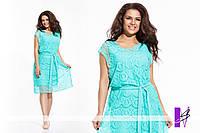 Гипюровое платье с поясом в расцветках БАТ 214 (1097)