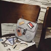 Женская сумочка, клатч, новинка 2017 серая