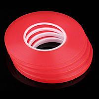 Скотч 3м акриловый - длинна 50 м (8мм) красный