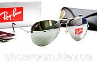 Женские солнцезащитные очки в стиле RAY BAN aviator (серебрянная  оправа), фото 1