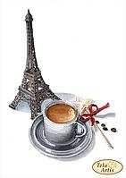 Схема для вышивания бисером Tela Artis Мечтательный кофе ТМ-102