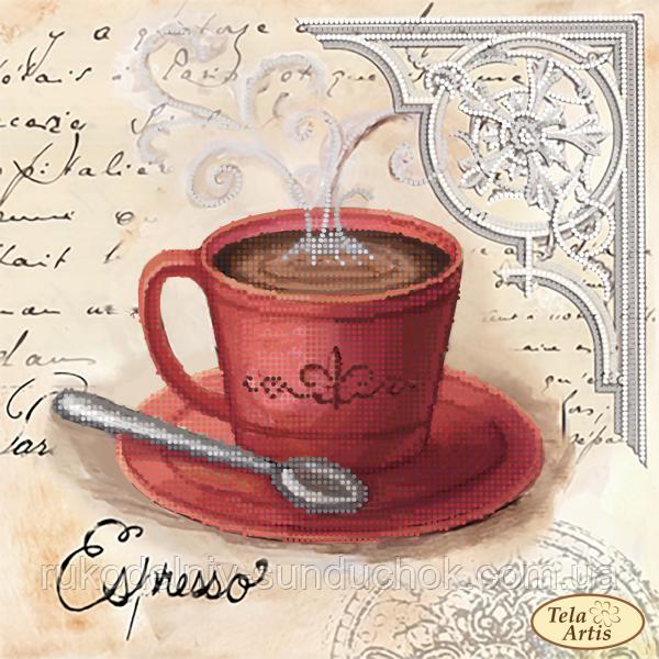 Схема для вышивания бисером Tela Artis Кофе в Париже-3 ТМ-103