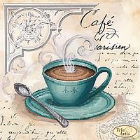 Схема для вышивания бисером Tela Artis Кофе в Париже-4 ТМ-104