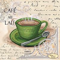 Схема для вышивания бисером Tela Artis Кофе в Париже-5 ТМ-105