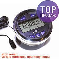 Часы-термометр-вольтметр VST-7042V / Интерьерные настольные часы