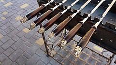 """Шампур с деревянной ручкой и бронзовыми навершиями """"Звери"""" (3мм, 70см, 1шт), фото 2"""