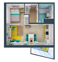 Однокомнатная квартира до 50 м2