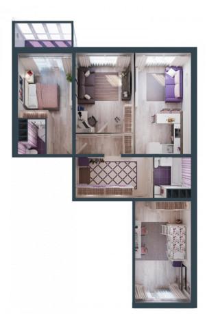 Трехкомнатная квартира до 120 м2, фото 1