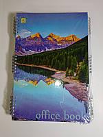 Книга канцелярская А4  80 листов твердая обложка на пружине